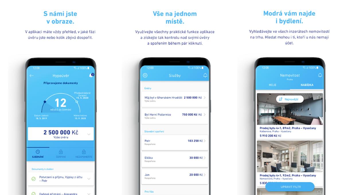 V aplikaci MP Home mohou uživatelé sledovat víc svých spoření a úvěrů naráz