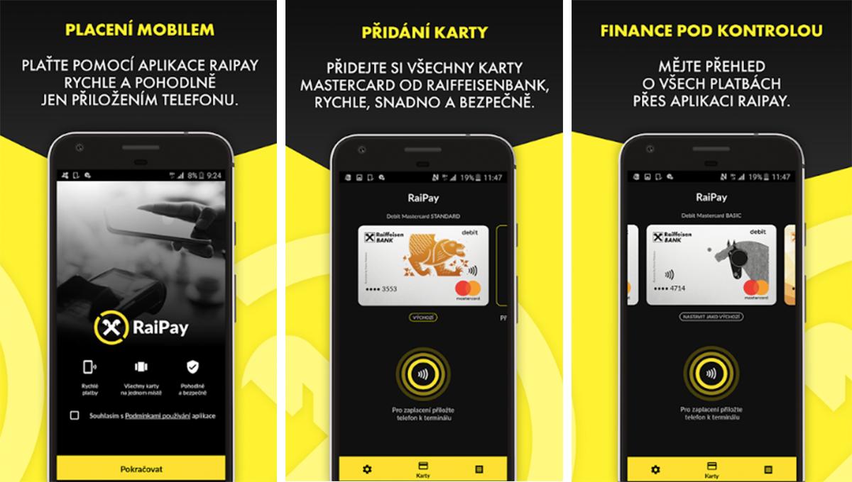 RaiPay nabízí bezkontaktní platby přes mobil