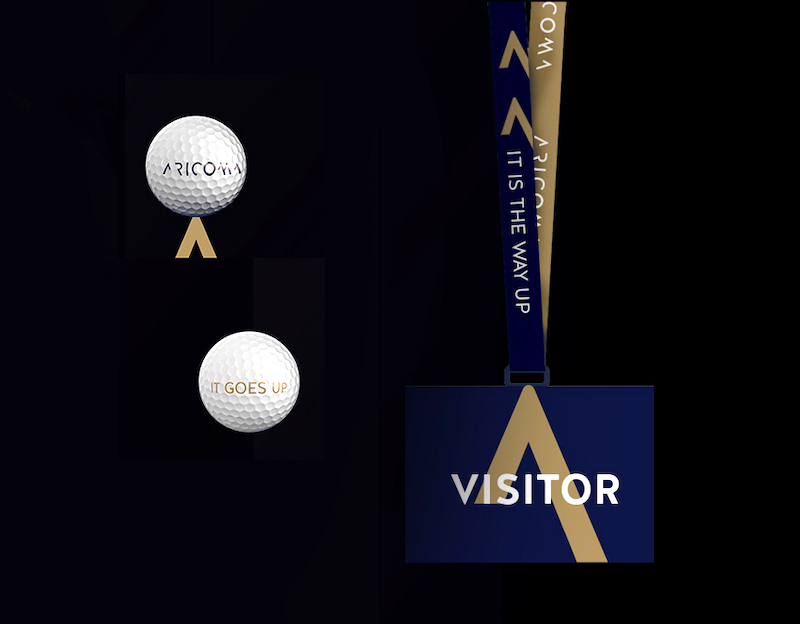 Aplikace vizuálního stylu skupiny Aricoma
