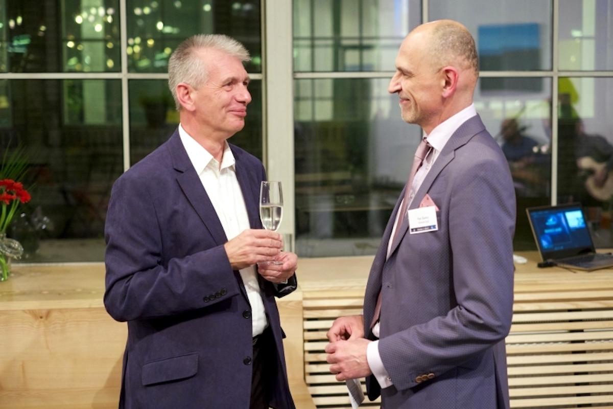 Hanuš Brychta (vlevo) a Petr Šedivý, místopředseda a předseda klubu.Foto: Venture Club