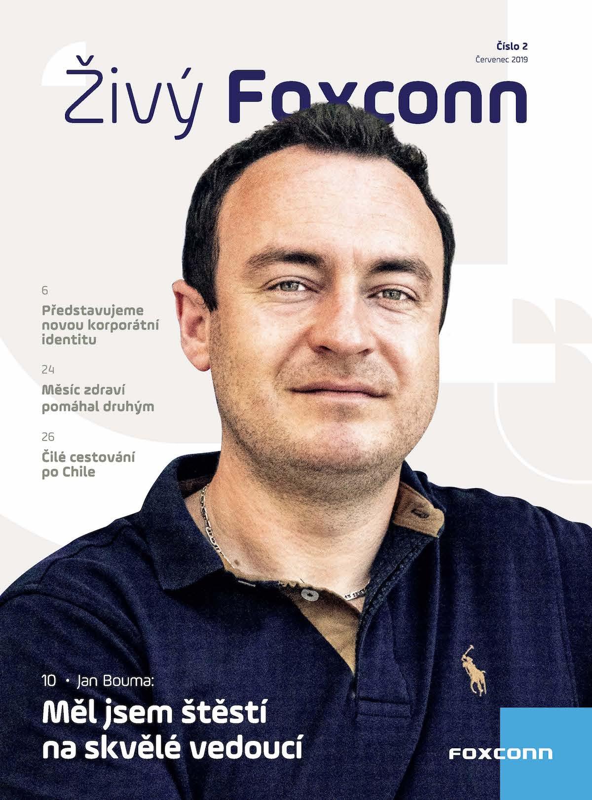 Titulní strana časopisu Živý Foxconn