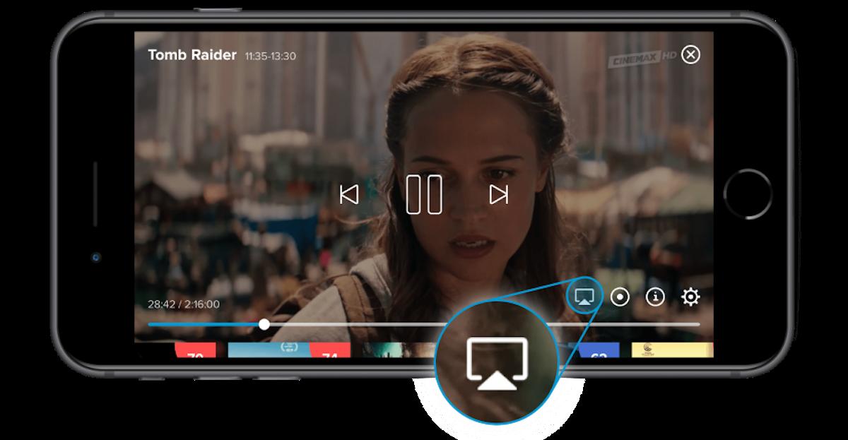 Nová verze aplikace nabízí funkci AirPlay