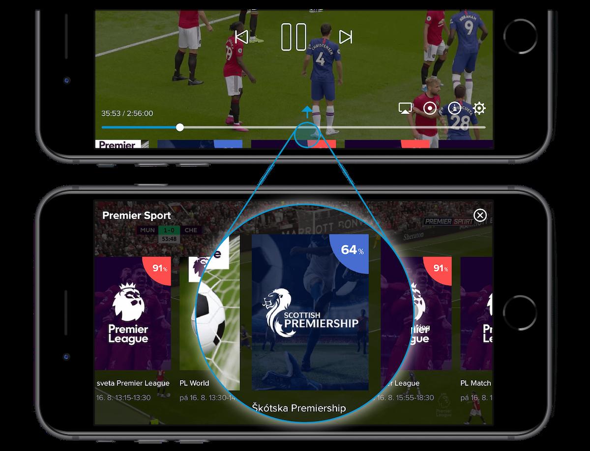 Program pořadů najdou uživatelé přímo v přehrávačí