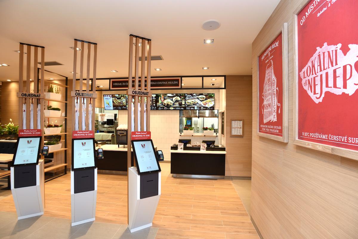 Samoobslužné kiosky v KFC