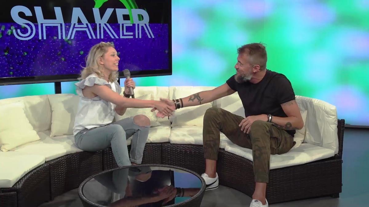 Martina Hřebíková a Bořek Slezáček v pořadu Shaker stanice Óčko Star