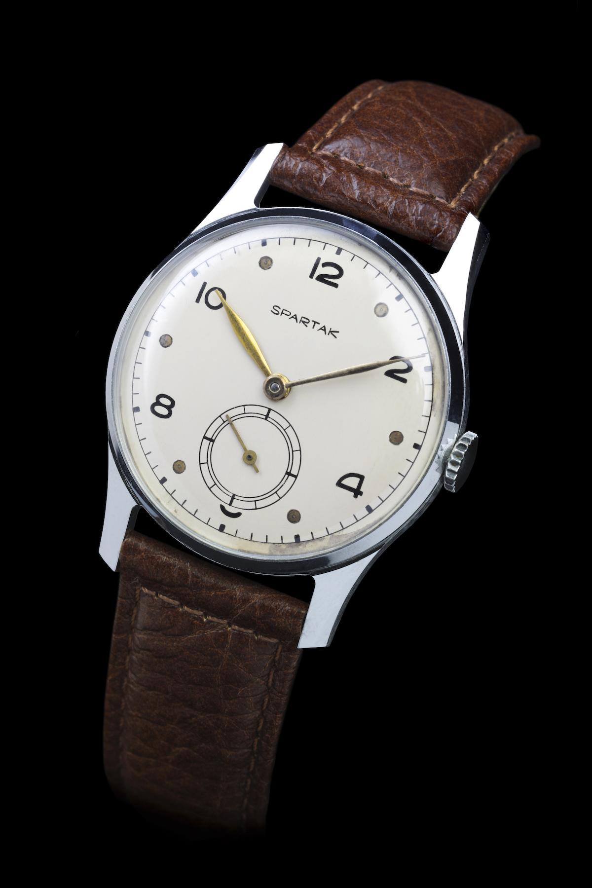 První hodinky Spartak značky Prim z roku 1954