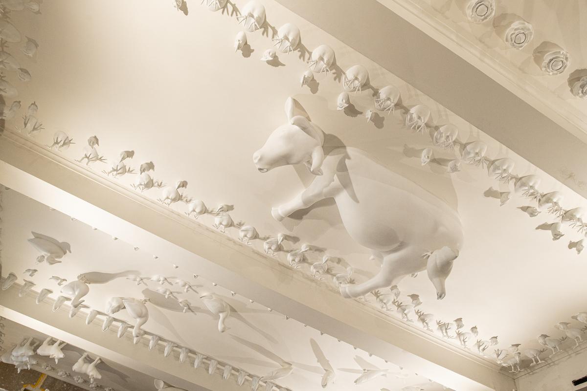 Strop zrekonstruovaného Vinohradského parlamentu