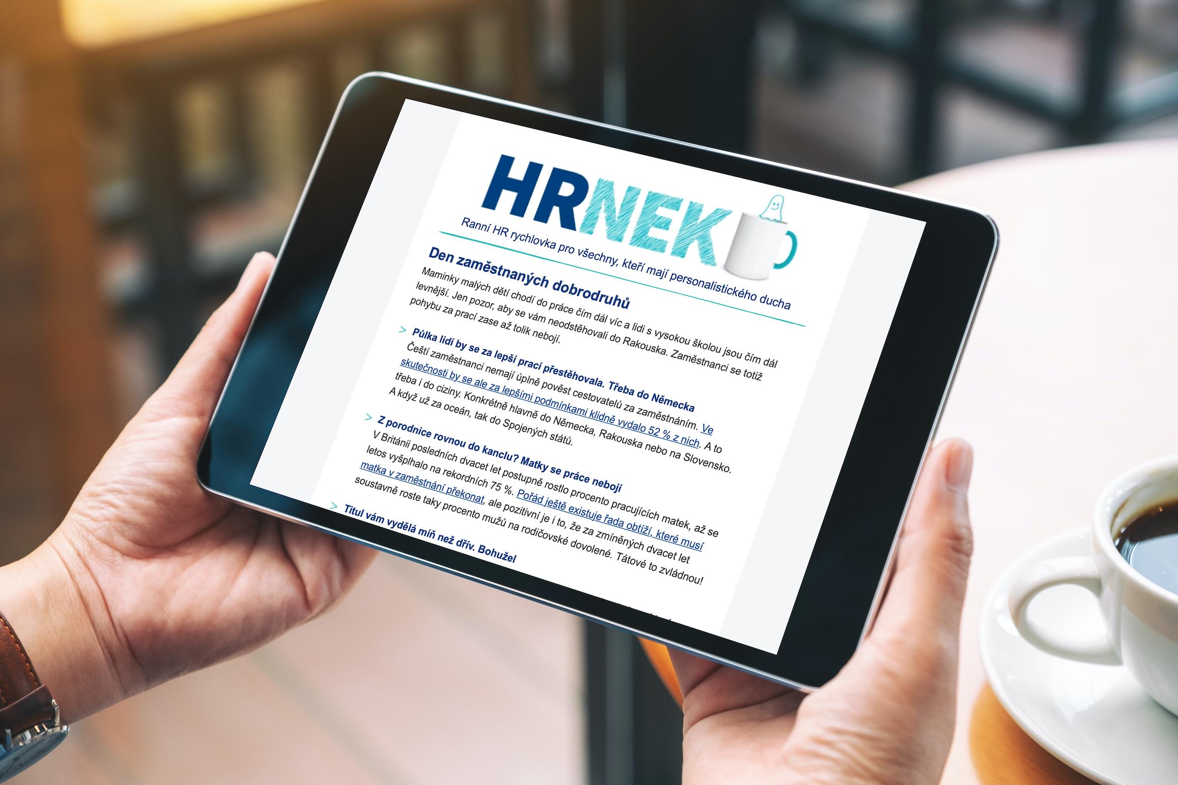 Informativní newsletter s názvem HRnek nabízí každý týden nejzajímavější oborové články odjinud