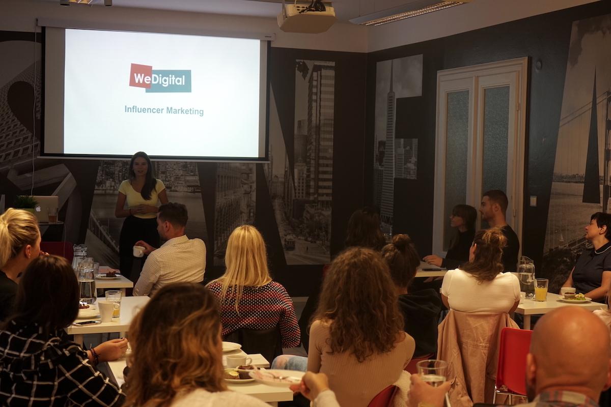 Andrea Hurychová přednášela klientům o influencer marketingu