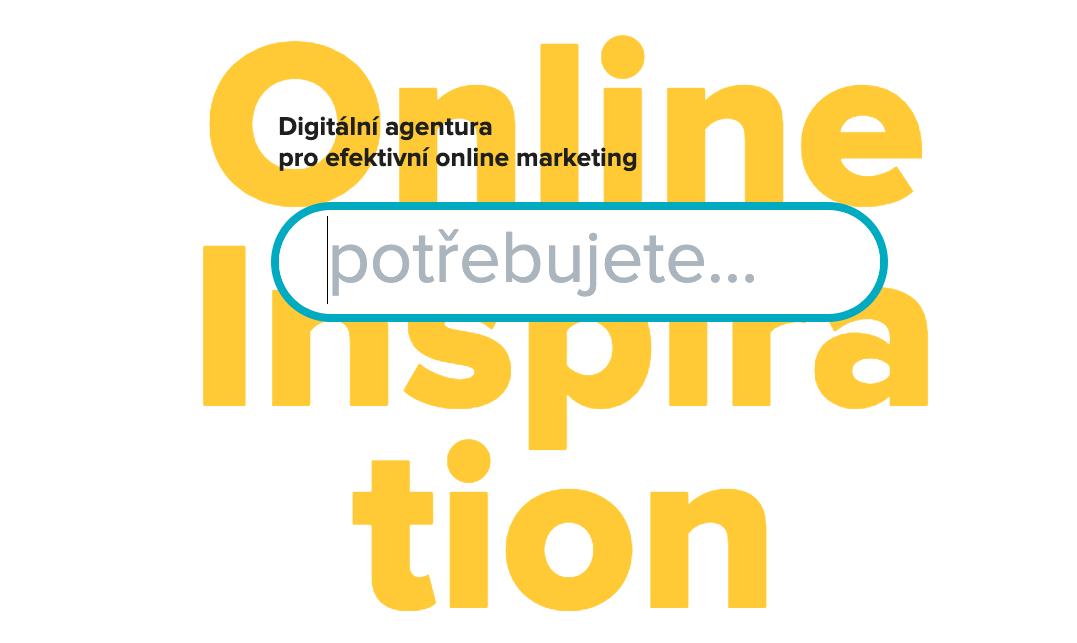 Ústřední prvek nového webu agentury In Creative