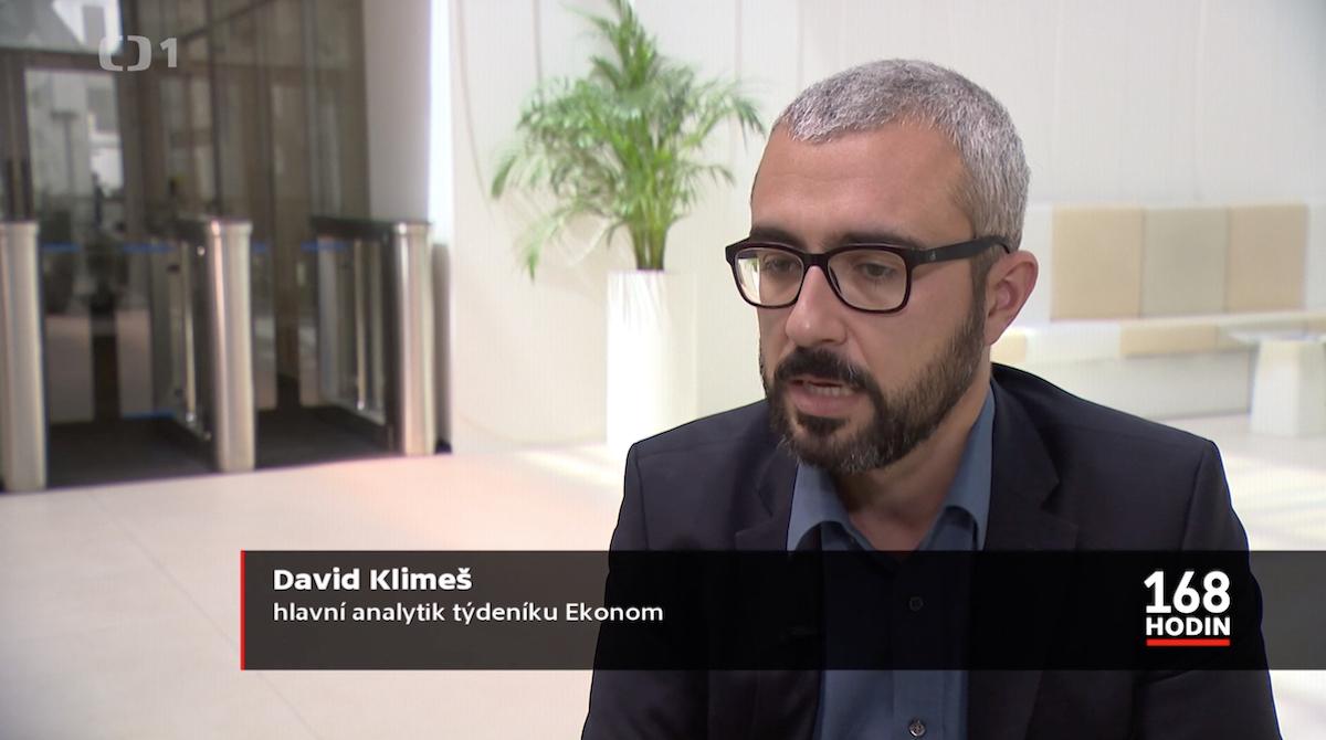David Klimeš v týdeníku 168 hodin, 9. červen 2019. Repro: Česká televize