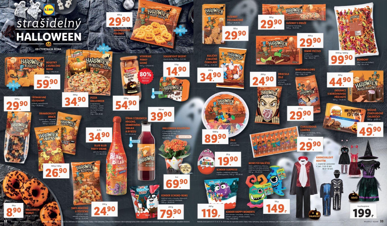 Nejbohatší nabídku produktů k Halloweenu má v letáku řetězec Lidl