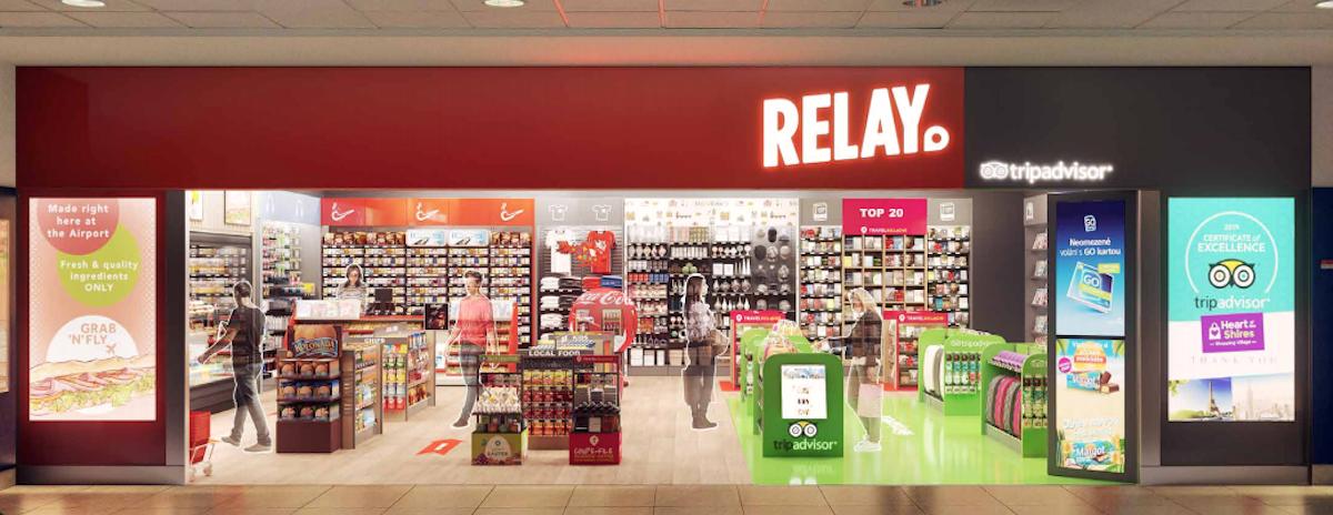Prodejna Relay na Letišti Praha