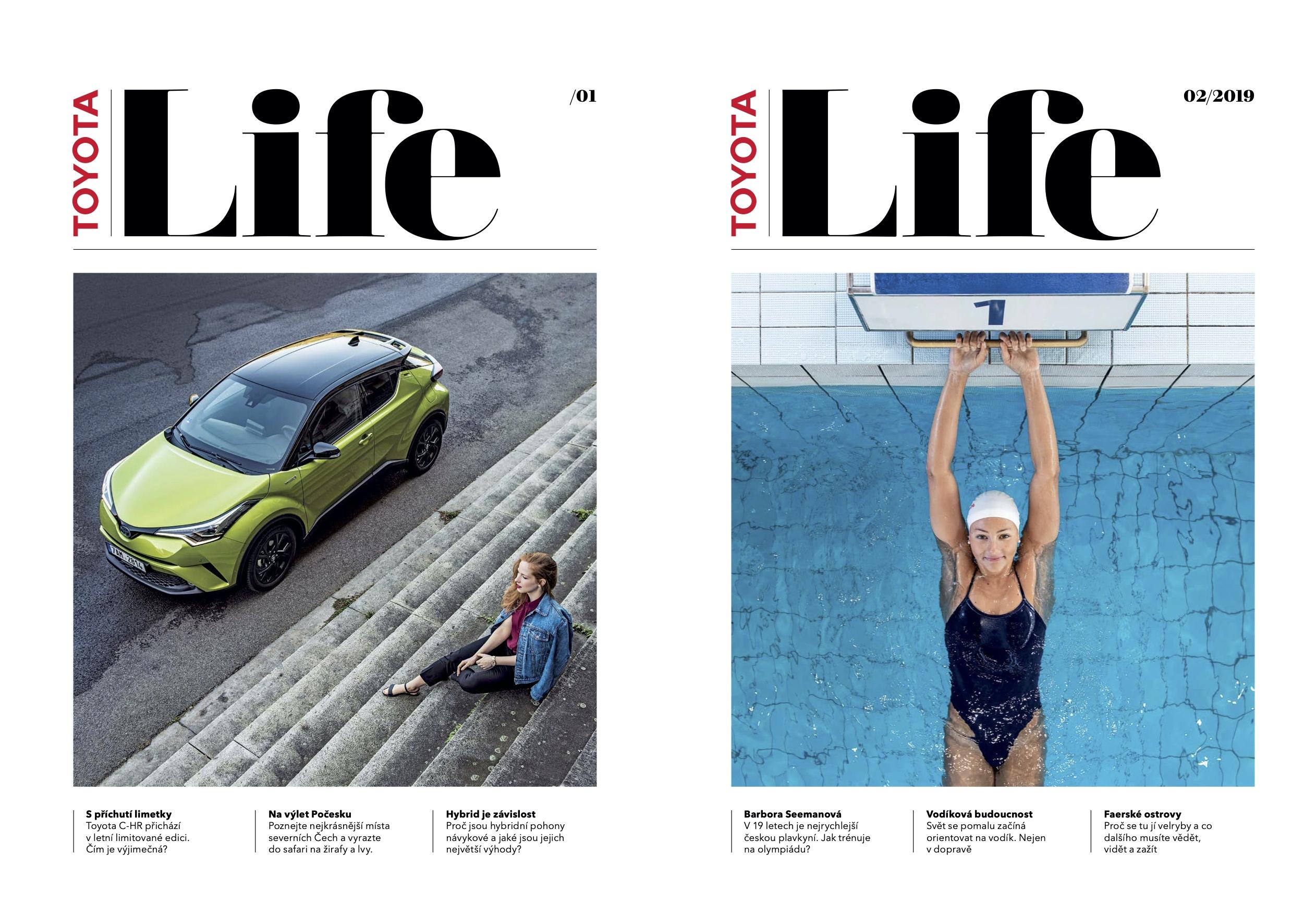 První dvě vydání čtvrtletníku Toyota Life