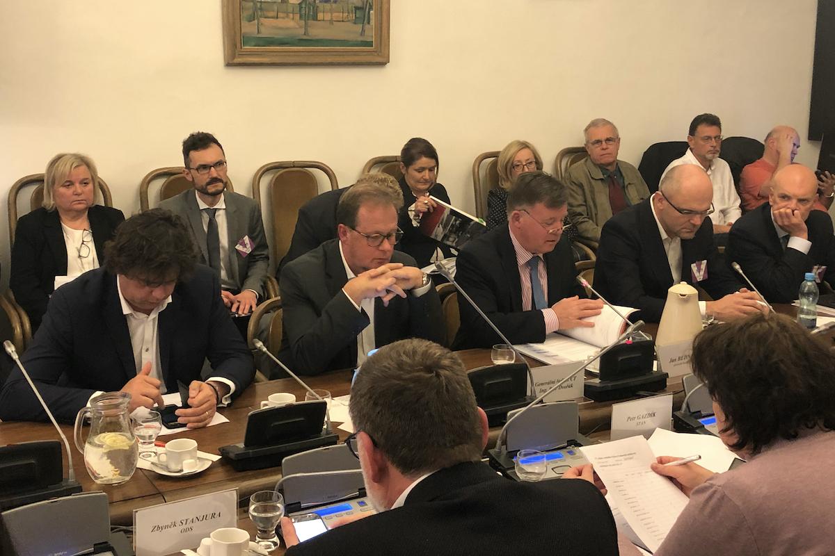 Zástupci ČT na dnešním zasedání volebního výboru