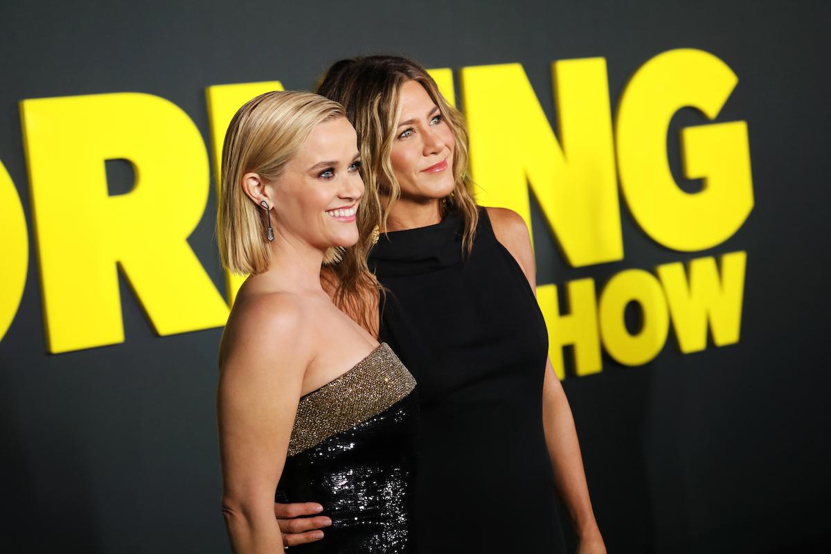 Reese Witherspoon a Jennifer Aniston 28. října na světové premiéře The Morning Show v New Yorku. Foto: Apple