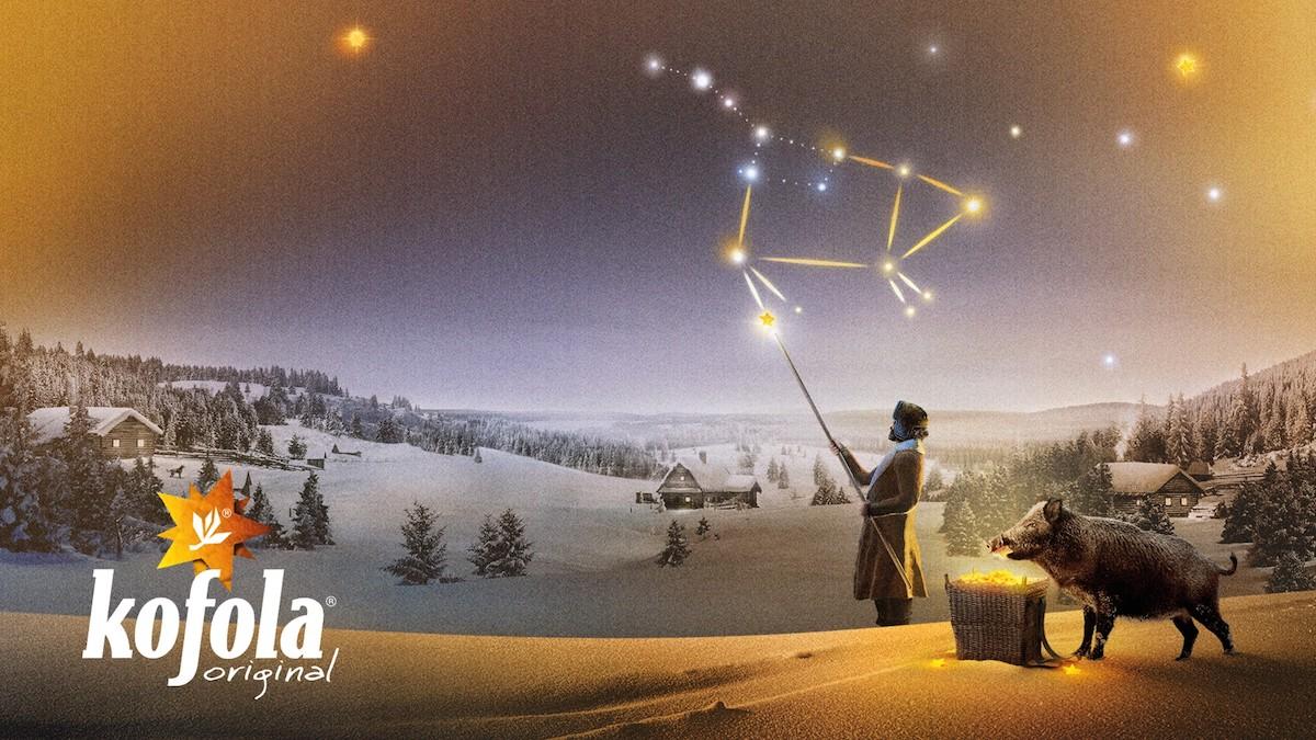 Kofola přidává k vánočnímu spotu vizuál se souhvězdím Velké medvědice