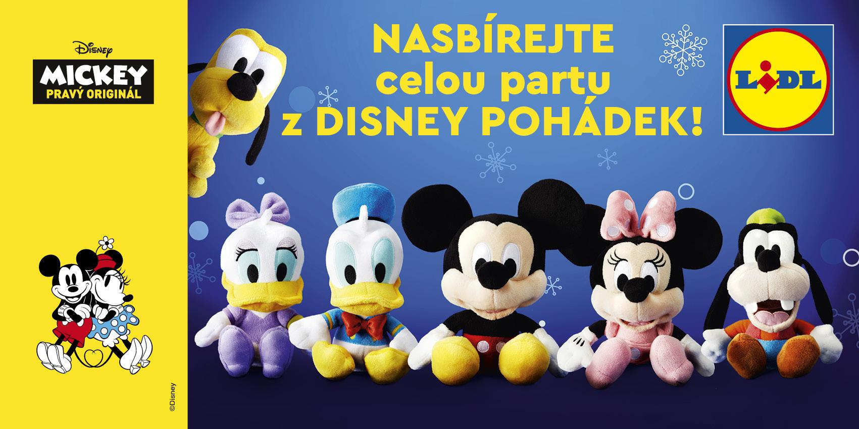 Plyšové postavičky od Disneyho v nabídce Lidlu