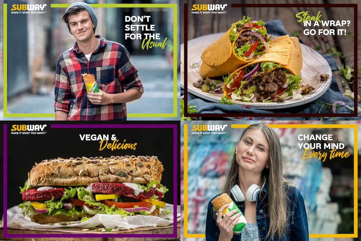 Ukázky z kampaně Subway