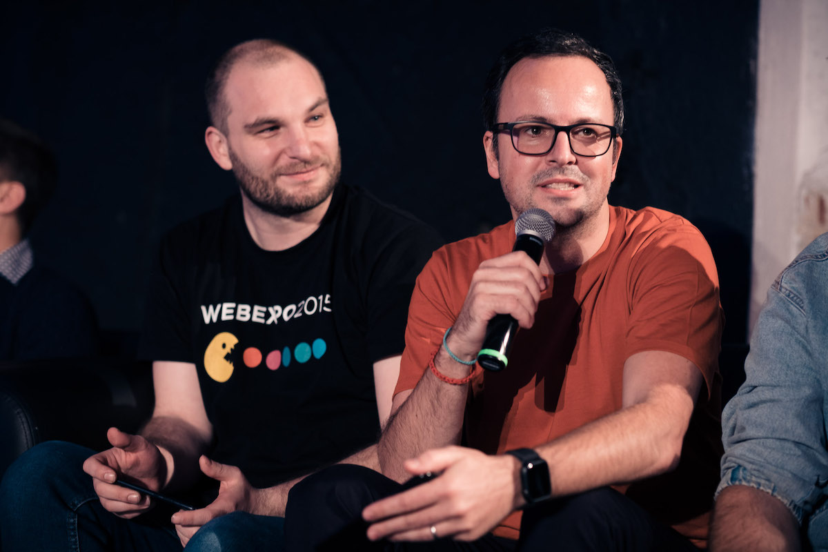 Porotci Jiří Vicherek (vlevo) a Bob Marvan. Foto: Jan Kovy