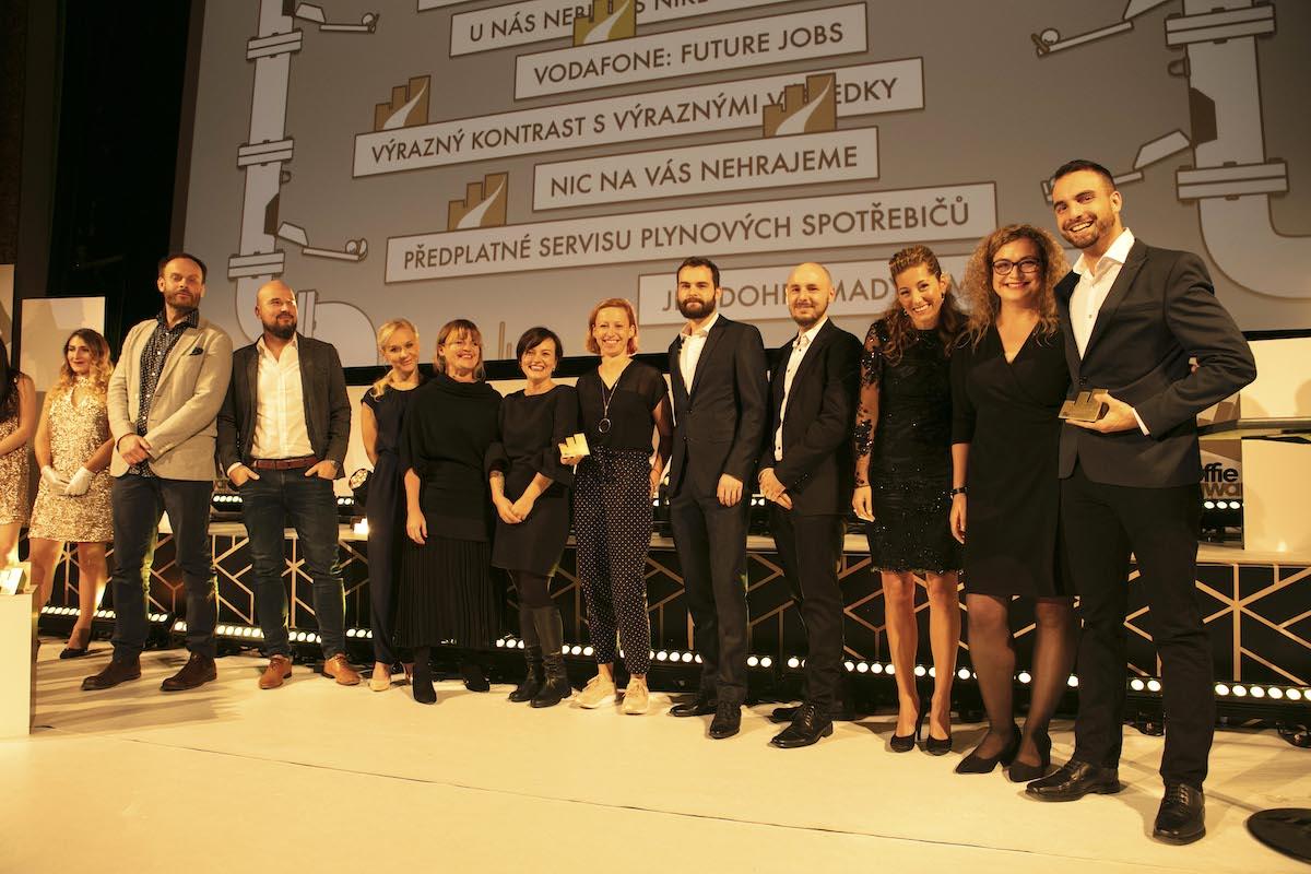 Zlatá Effie v kategorii Ostatní služby pro McCann Prague za práci pro Vodafone