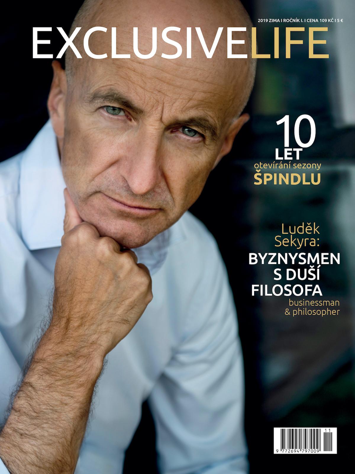 První číslo titulu Exclusivelife má na titulu developera Luďka Sekyru, fotografovala hoLenka Hatašová
