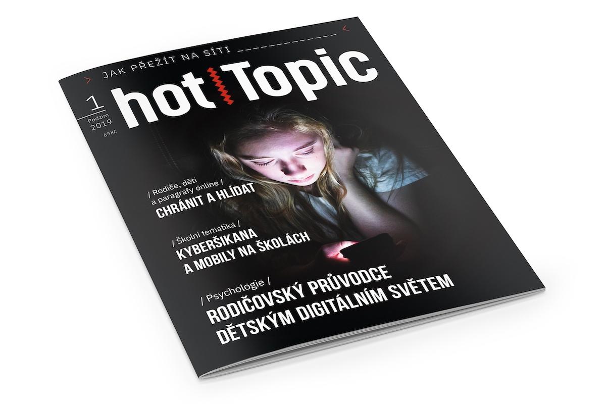 Titulní strana prvního čísla časopisu Hot Topic