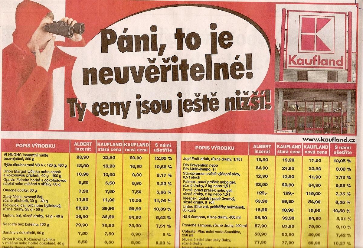 Srovnávací reklama Kauflandu z roku 2010
