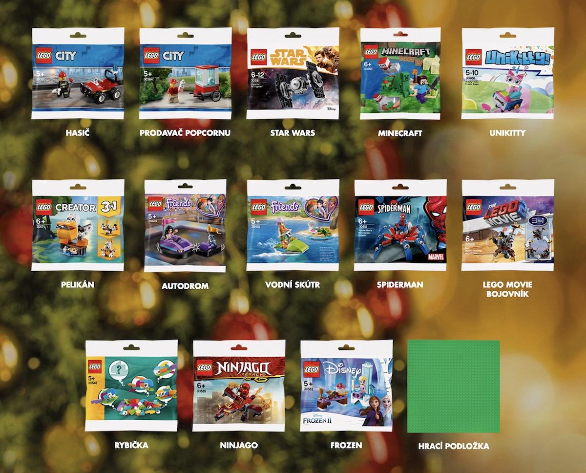 Nabídka ministavebnic Lego v kampani Albertu