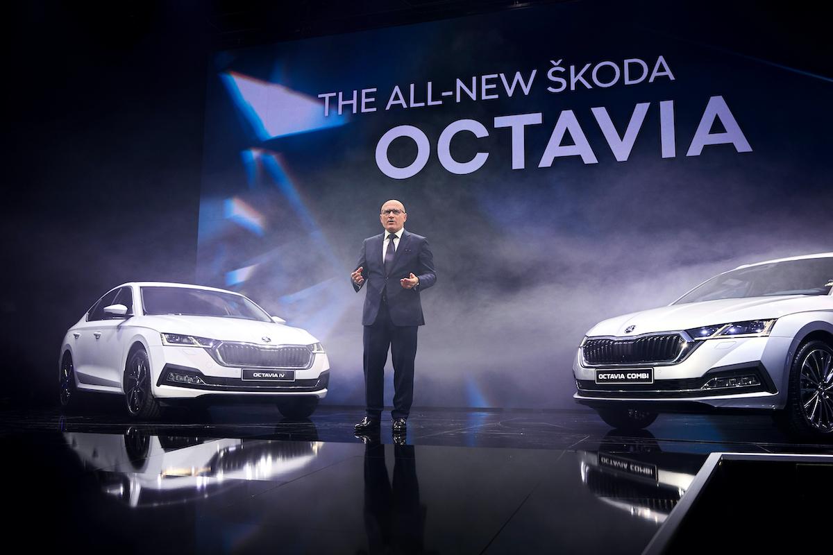 Přepracovaná Škoda Octavia se představila v pondělí večer v pražském Veletržním paláci
