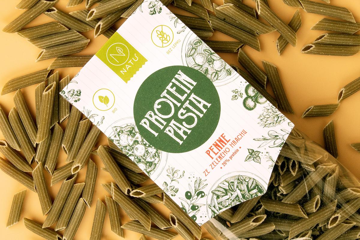 Protein pasta ze zeleného hrachu