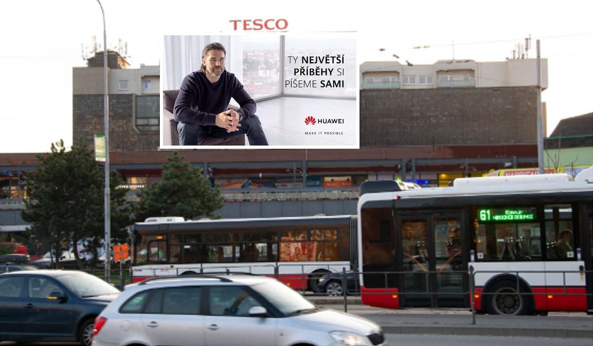 Jaromír Jágr v aktuální kampani značky Huawei: vizualizace pro Brno
