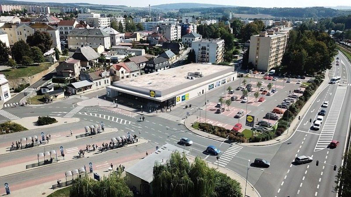 Prodejna Lidlu v Rychnově nad Kněžnou