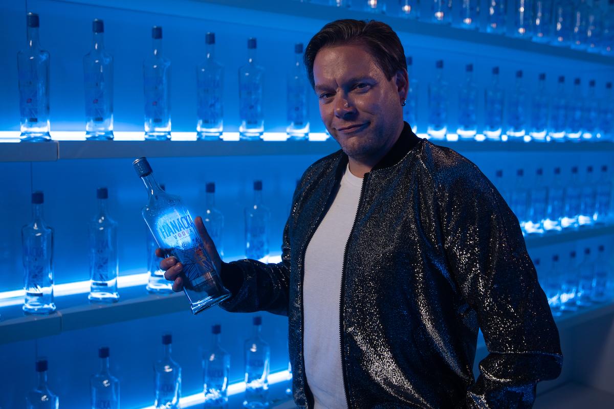 Matěj Ruppert při natáčení reklamy na Hanáckou vodku
