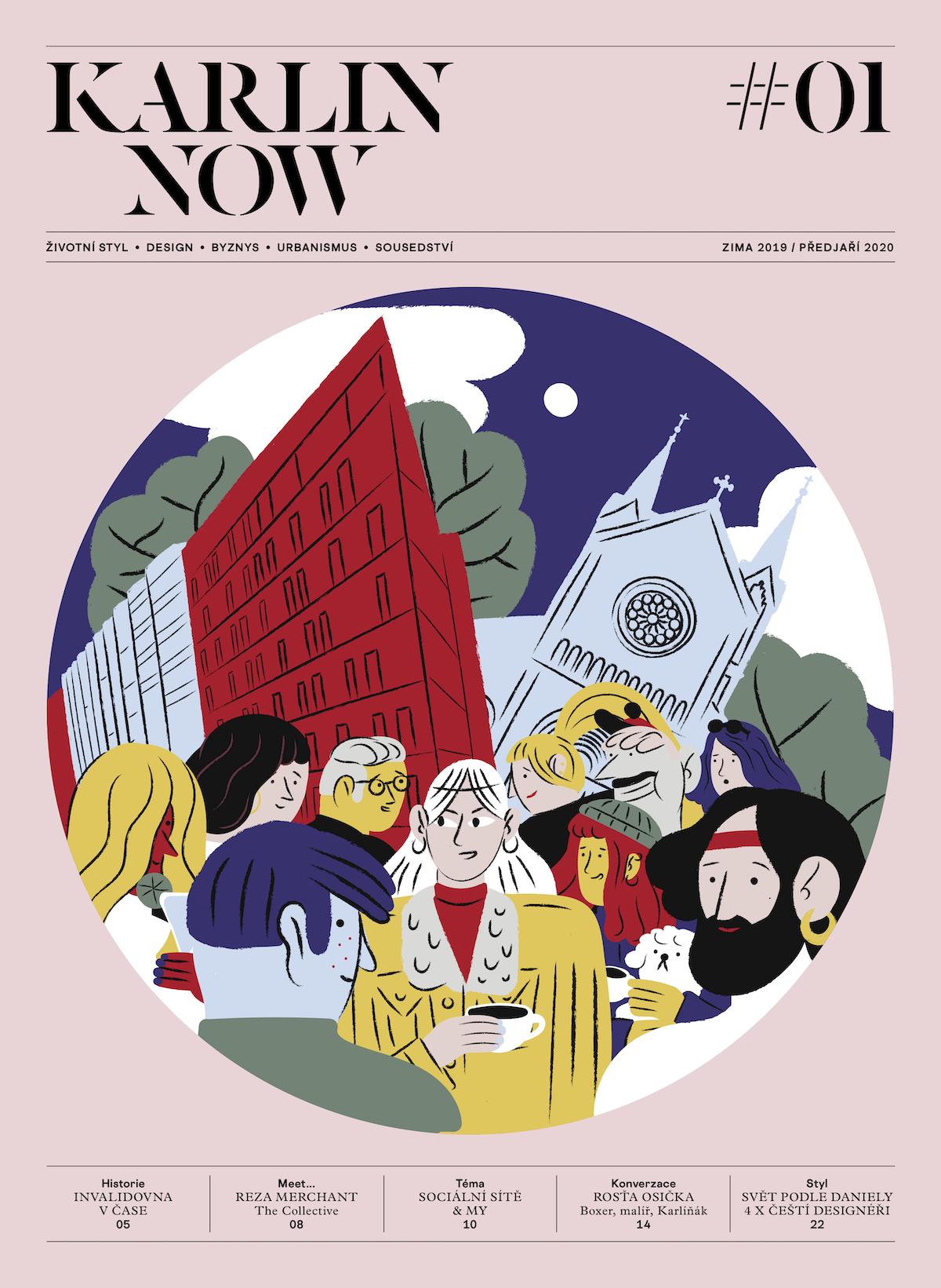 Titulní strana prvního vydání Karlin Now