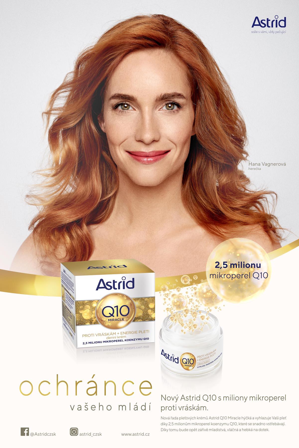 Hana Vagnerová na klíčovém vizuálu kampaně Astrid