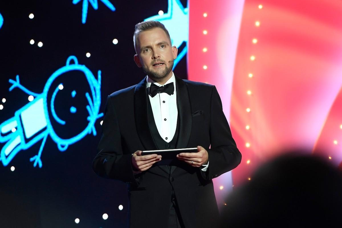Libor Bouček při moderaci v prosinci 2019 na Žofíně. Foto: Profimedia.cz
