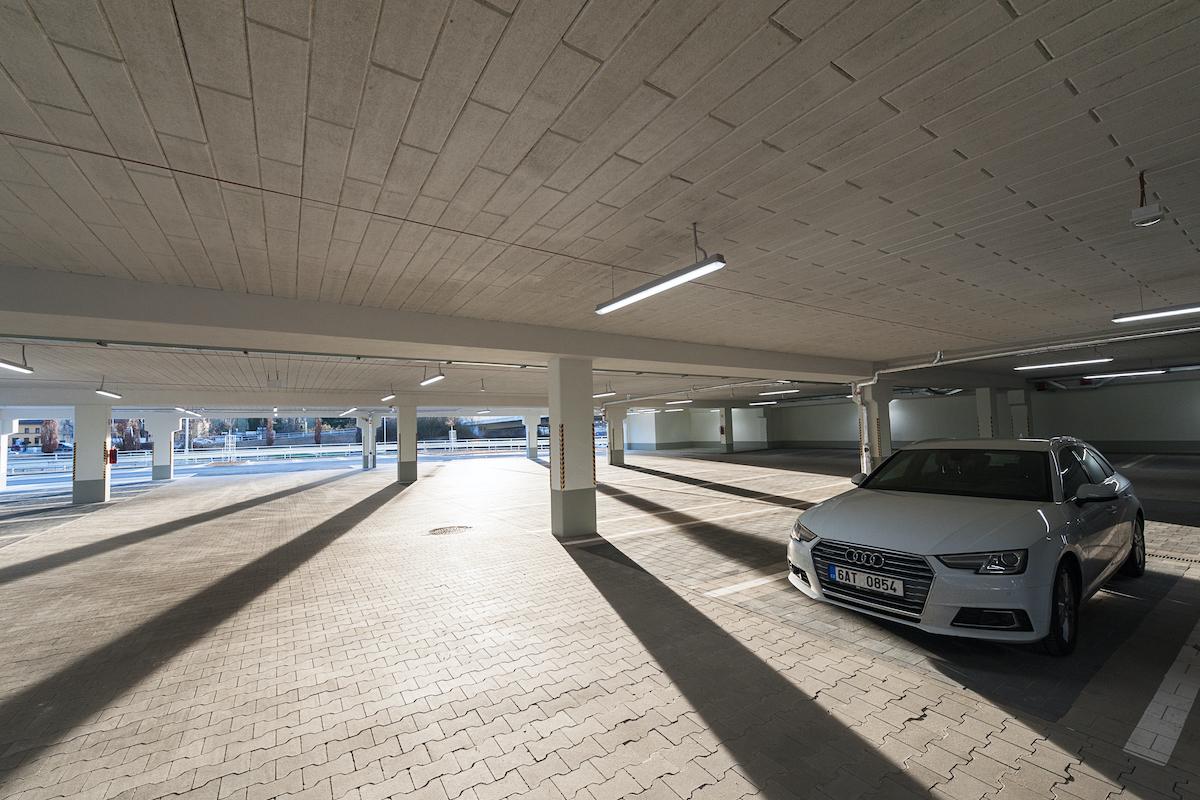 Nová prodejna Lidlu v Písku: parkoviště