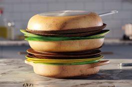 Nádobí neřeš, říká McDonald's nádobím v podobě burgeru, hranolků a zmrzliny