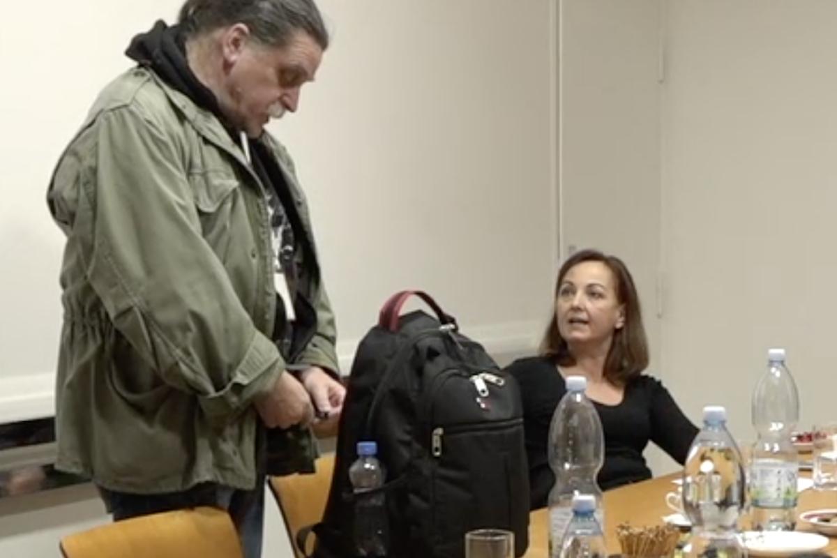 Pavel Foltán a Angelika Bazalová se hádají
