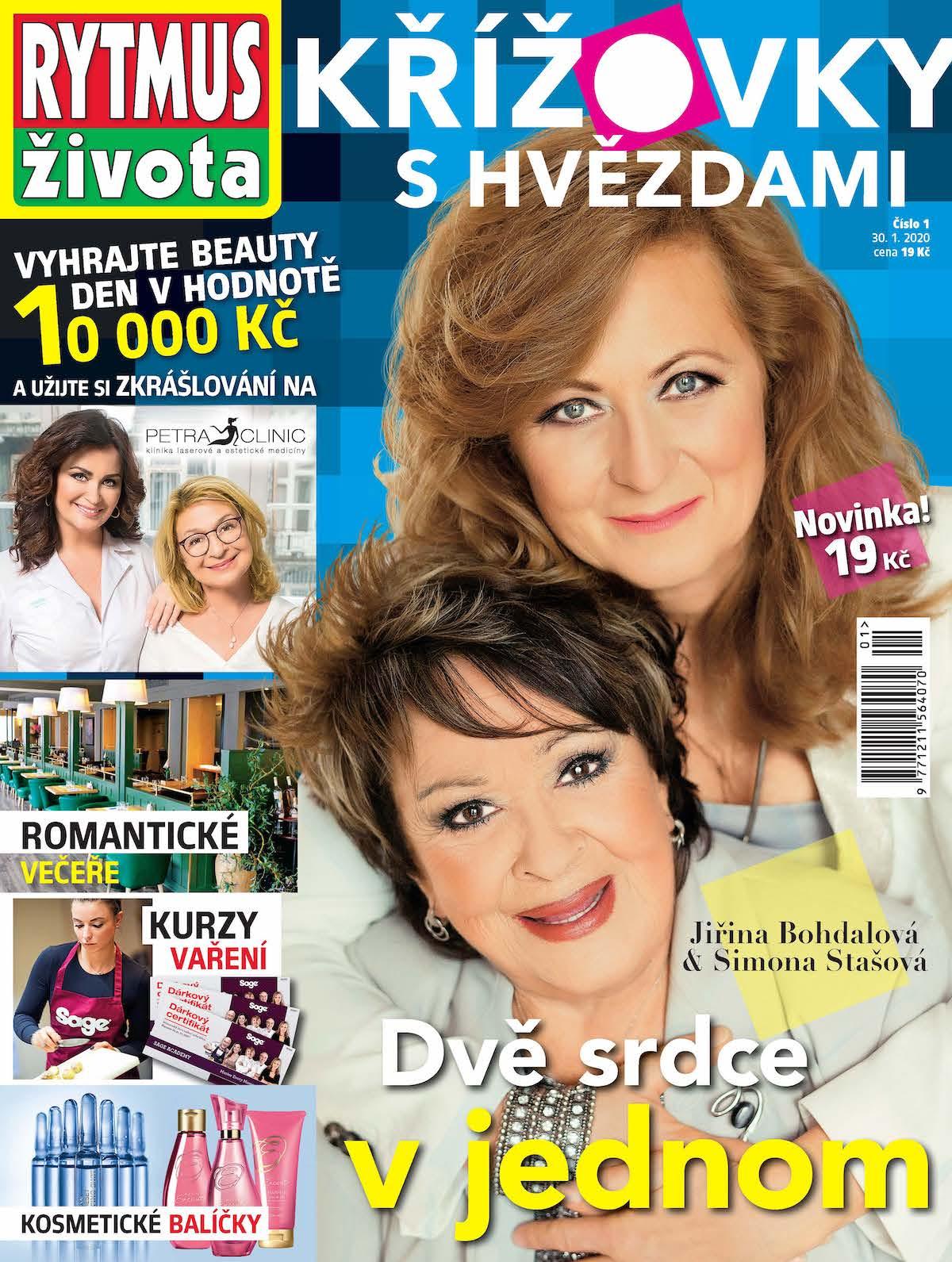 Titulní strana časopisu Rytmus života křížovky shvězdami