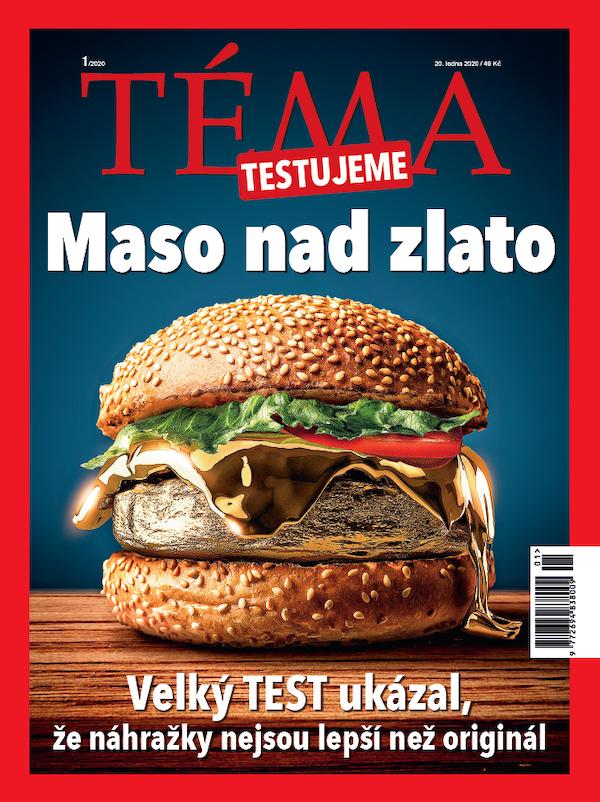 Titulní strana časopisu Téma - testujeme