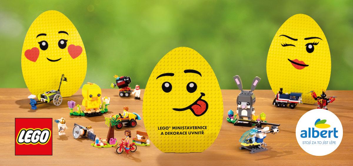 Čističe Kärcher a ministavebnice Lego v jarní věrnostní kampani Albertu