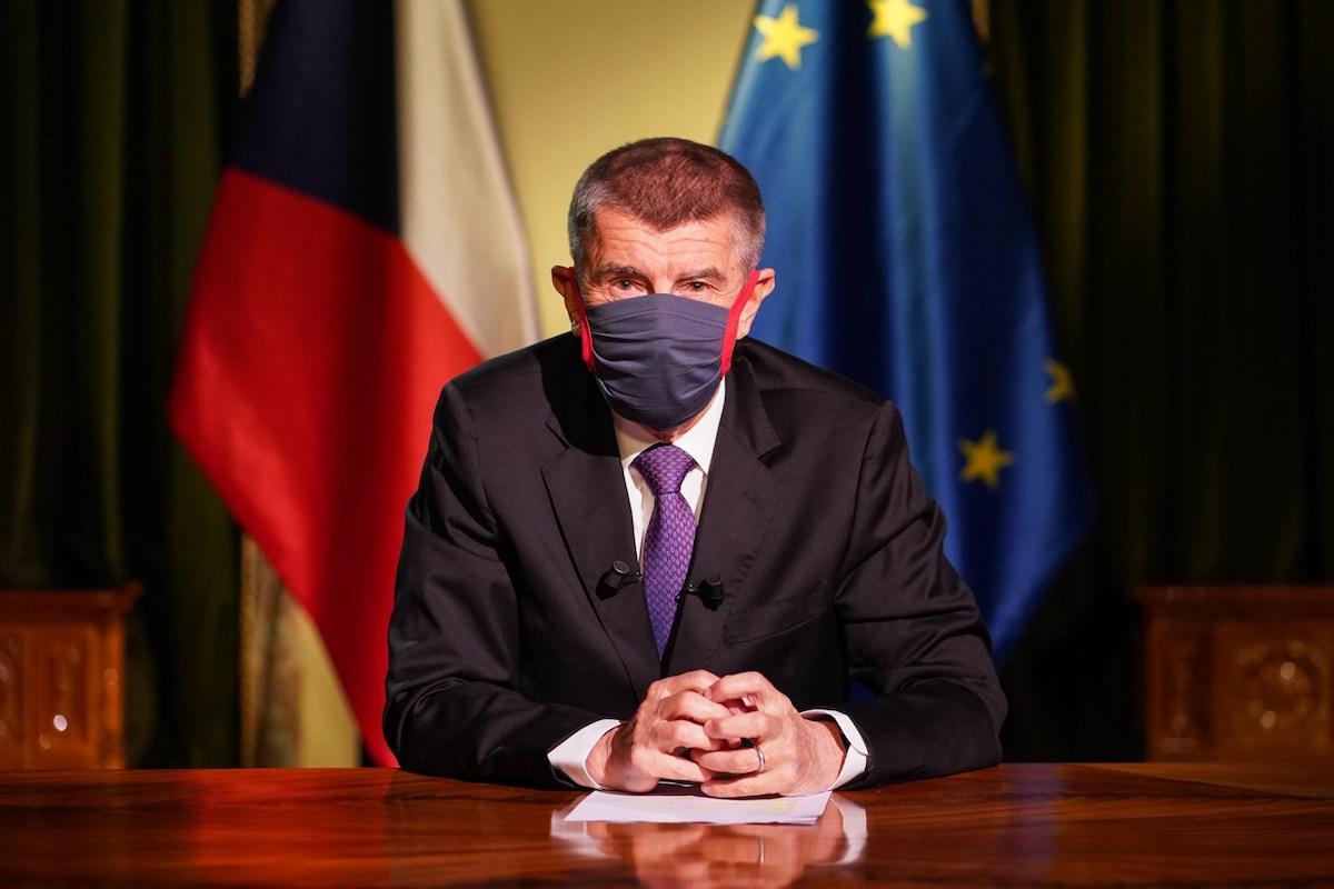 Andrej Babiš při pondělním televizním projevu