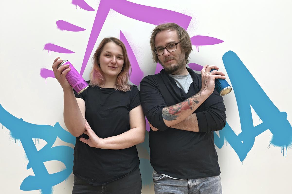 Textařka Anna Soukupová a art director Rado Sládek