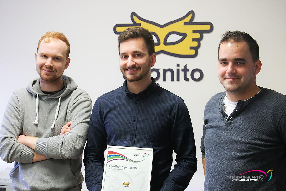 Realizační tým nového webu Emil Čelustka, Jan Špičák, Peter Treščák