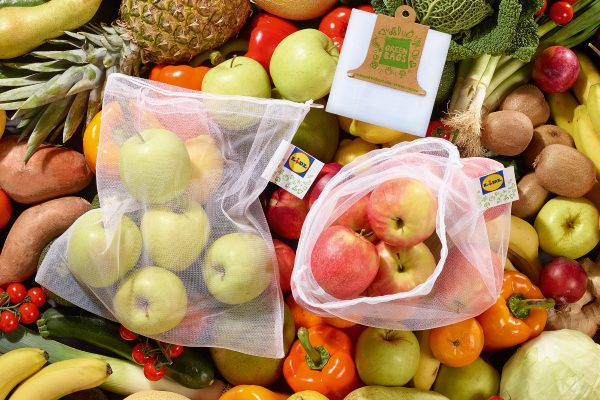 Lidl zavádí sáčky pro opakované použití na ovoce a zeleninu