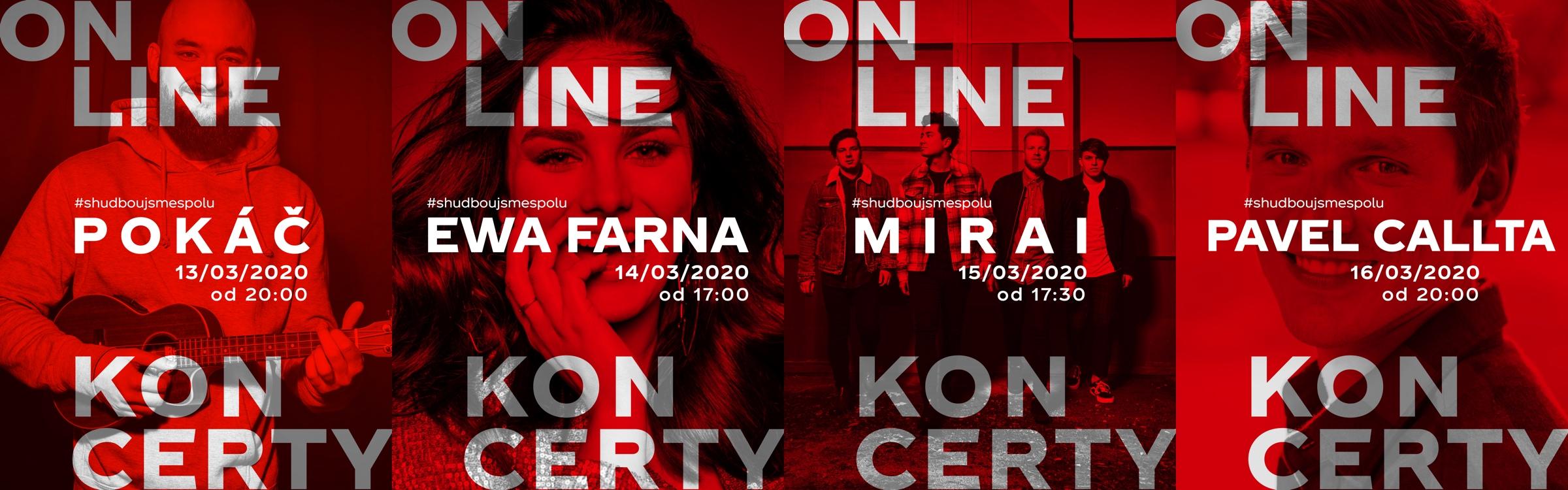 Propagační vizuály k online koncertům Coca-Coly