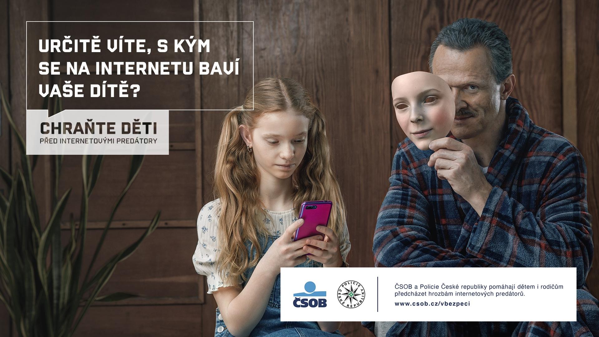 ČSOB a Policie ČR společně proti internetovým predátorům