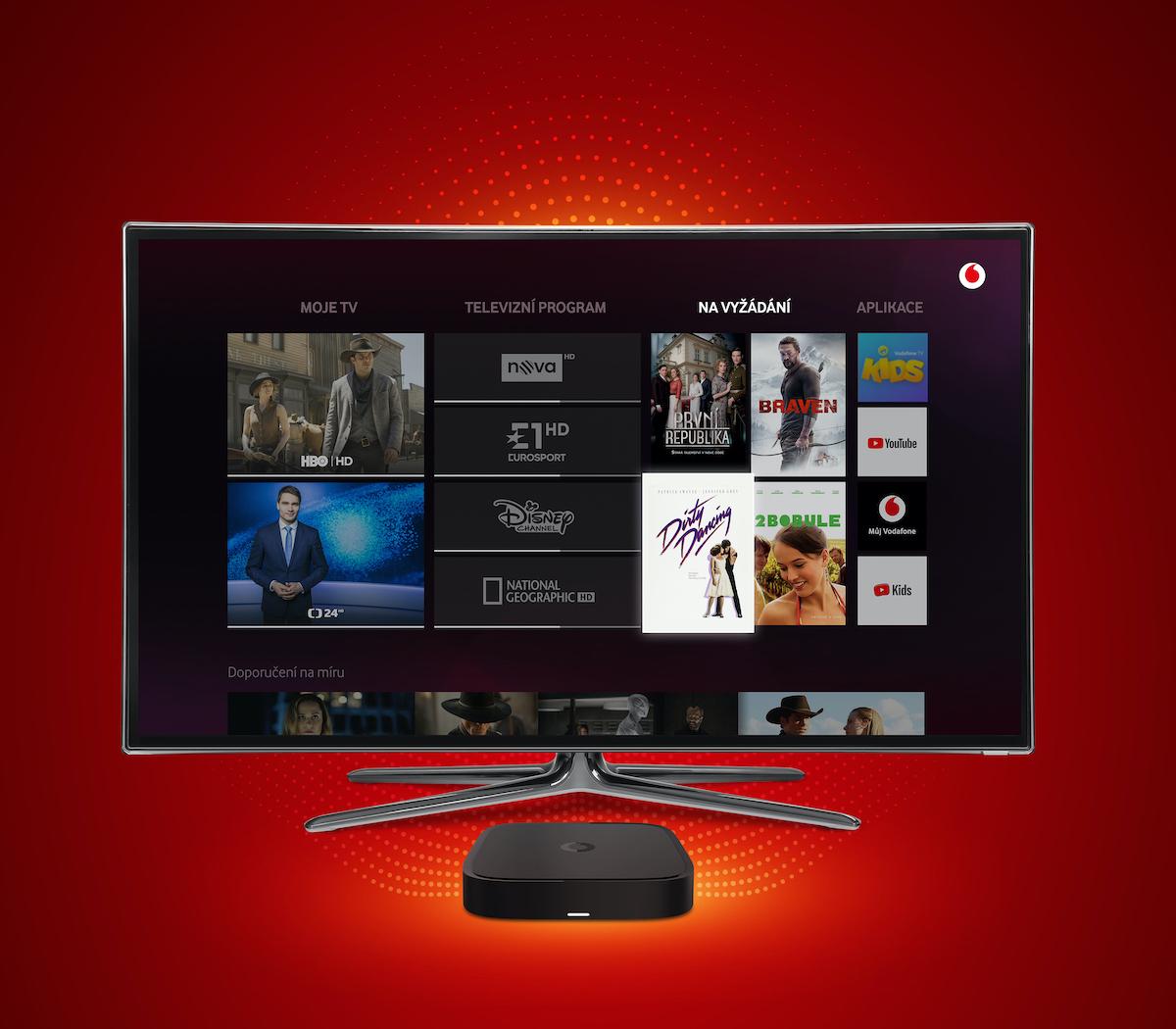 Rozhraní a set-top box Vodafone TV